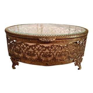 Gold Ormolu Jewelry Casket