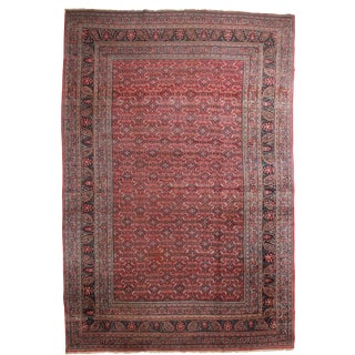 RugsinDallas Persian Hand Knotted Wool Mashad Rug - 12′7″ × 18′9″