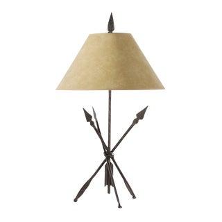 Iron Arrowhead Quapaw Table Lamp