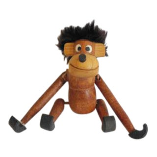 Kay Bojesen Style Teak Wood Monkey