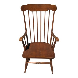 Vintage Brown Wood Rocking Chair