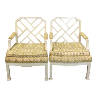 Erwin Lambeth Chinese Chippendale Chairs - A Pair