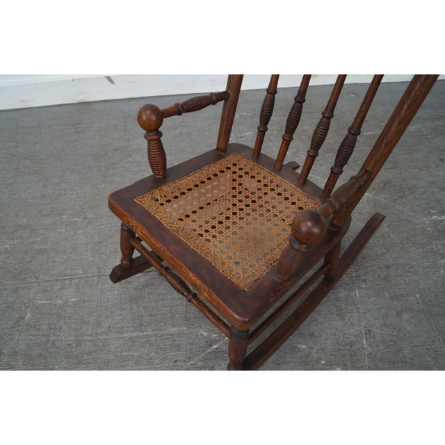 Antique Oak Victorian Childs Rocking Arm Chair Chairish