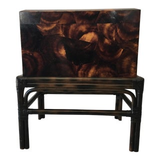 Tessellated Faux Tortoise Shell Box