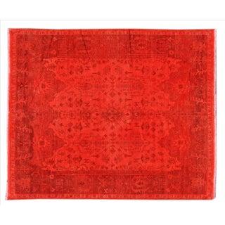Apadana - Vintage Orange Indian Rug - 8' x 10'