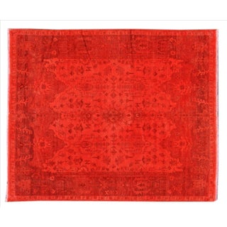 Apadana - Vintage Orange Indian Rug - 8' x 10'