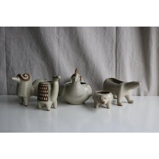 David Stewart Ceramic Animal Planters - Image 4 of 8