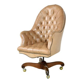 Original Kittinger Swivel Tufted Office Chair