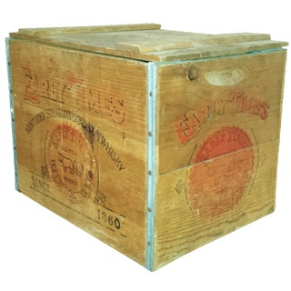 Early Times Whiskey Crate