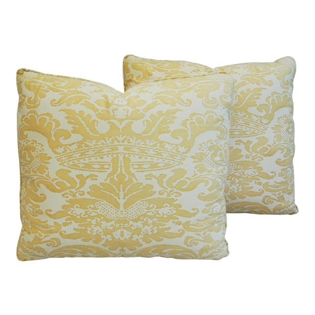 Mariano Fortuny Italian Corone Crown Feather/Down Pillows - Pair - Image 1 of 10