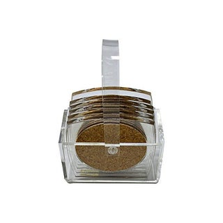 Lucite Coaster Set - 7 Pieces