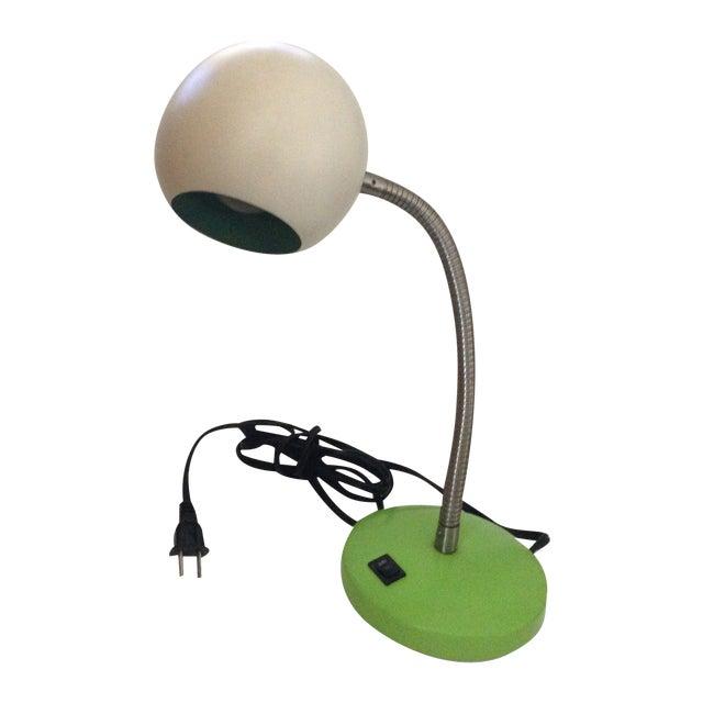Image of Mid-Century Green & White Eyeball Desk Lamp