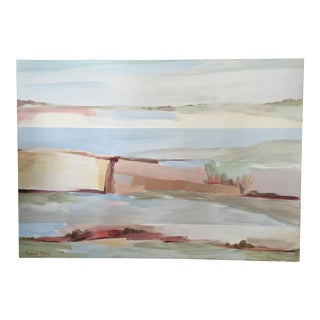 Irene Moss 20th Century Abstract Landscape Painting