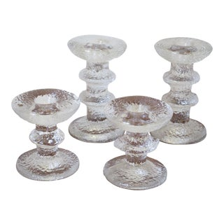Timo Sarpaneva for Iittala Glass Candle Holders - Set of 4
