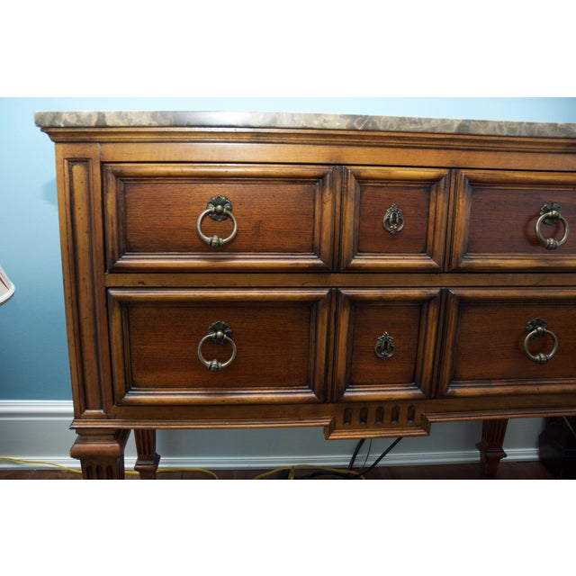 Ethan Allen Tuscan Bonner Tables- A Pair - Image 4 of 4
