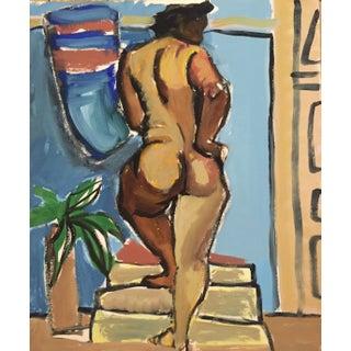 1940-1950's Painting of Model Flo Allen Bay Area Art