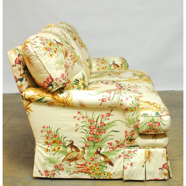 Brunschwig & Fils French Upholstered Toile Sofa - Image 6 of 10