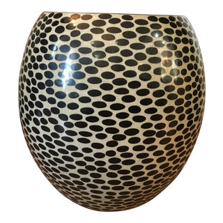Dotted Ceramic Stool
