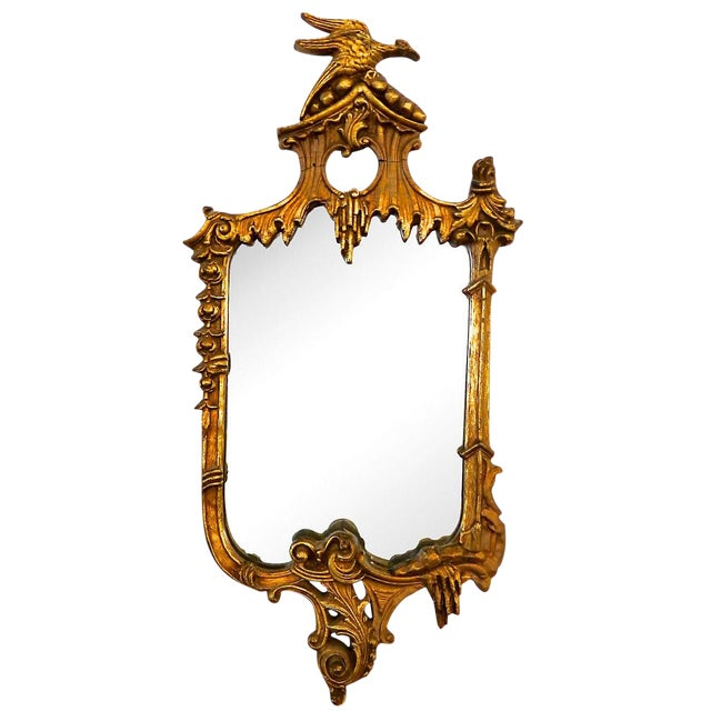 Image of 19th-Century Gilded Rococo-Style Mirror