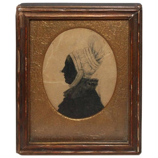 Early 19th Century Silhouette Portrait of Woman