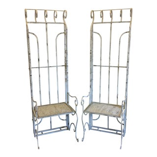 Vintage High Back Metal Garden Chairs