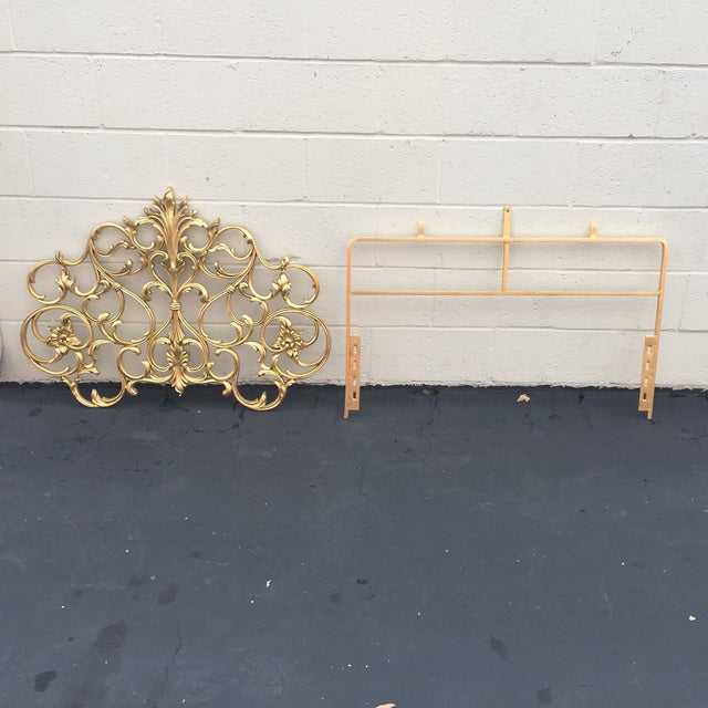 Image of Twin Gold Head Boards & Frames - 4 Pieces