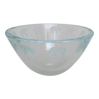 Schlanser Art Glass Bowl