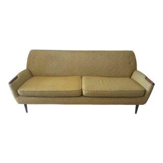 Mid-Century Yellow Mustard Sofa