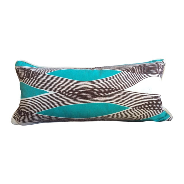 Mid-Century Modern Waves Lumbar Throw Pillow Chairish