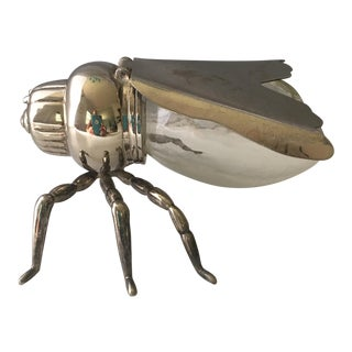 Silver & Glass Fly Bowl