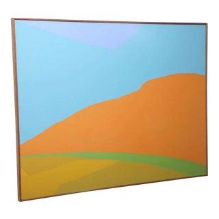 Hard Edge Landscape by Jackie Carson Acrylic on Canvas