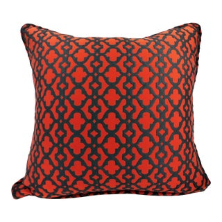Custom Red & Black Lattice Style Pillow