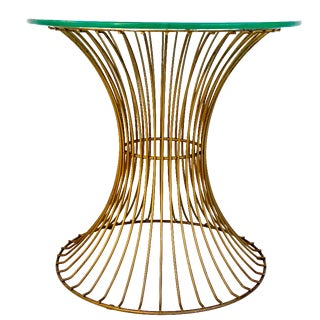 Mid-Century Modernist Platner Style Iron Side Table or Stool