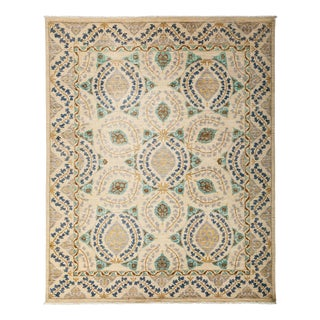 "Suzani, Hand Knotted Beige Wool Area Rug - 8' 2"" X 10' 1"""