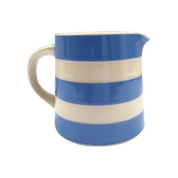 English Cornishware Cream Jug - Image 1 of 4