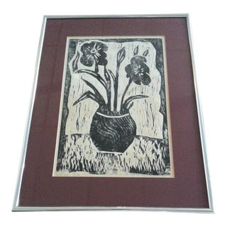 Vintage Artist Proof Wood Block Print