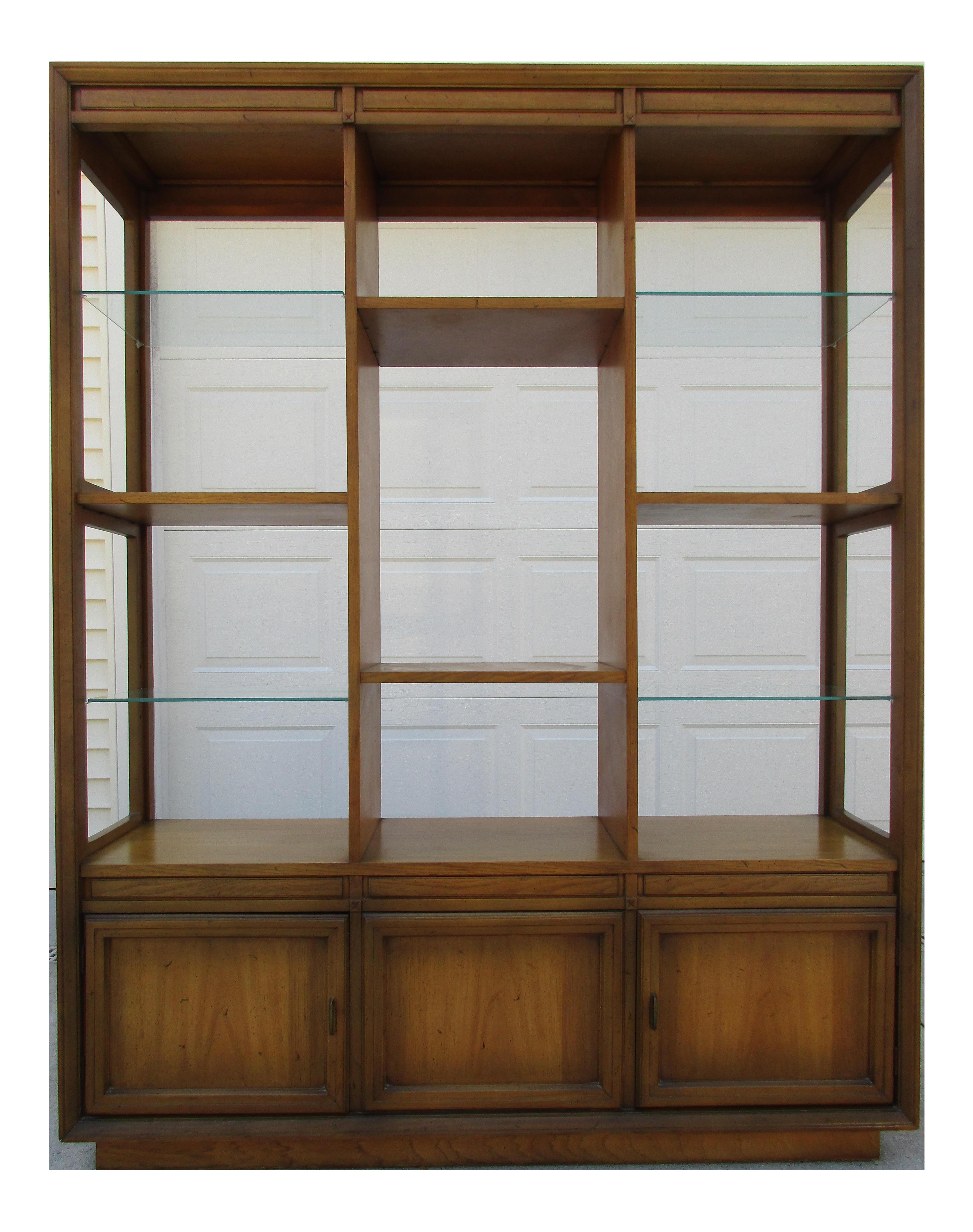 midcentury modern bookcase cabinet