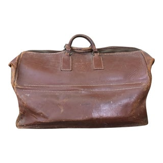 Vintage Saddle Leather Duffle Bag