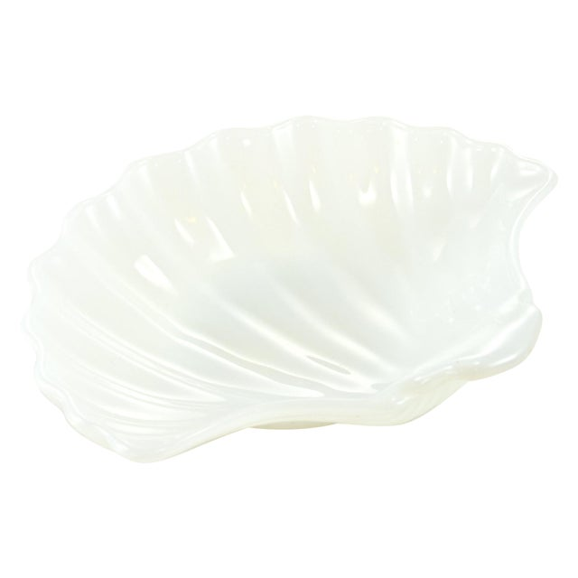 Image of Milk Glass Shell Bowl