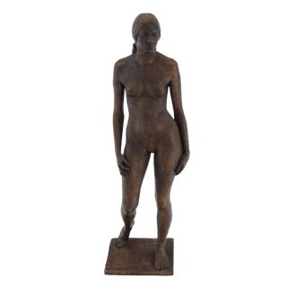 """48"""" Tall Large Faux Bronze Composite Statue of a Nude Women"""