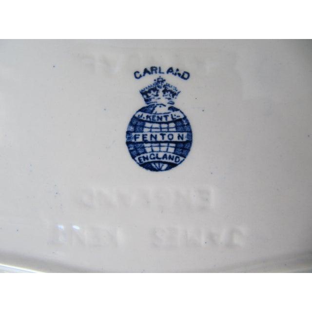 Image of Rose Blue & White Plates - Set of 3
