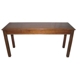 1960s Walnut Work Table Desk