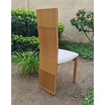 Image of Costantini Maple Slatted Dining Chairs - Set of 6