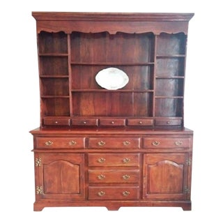 Theodore Alexander Solid Walnut Open China Cabinet