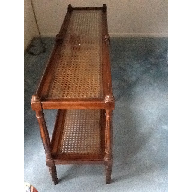 Cane & Glass Coffee Table with Shelf - Image 9 of 10