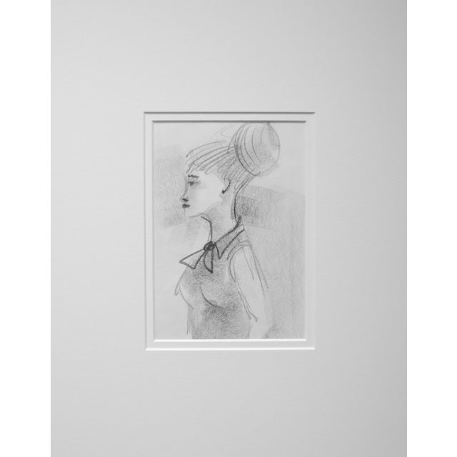 Mid-Century Figurative Drawing - Image 1 of 3