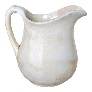 Shabby Chic Antique Ironstone Jug or Pitcher