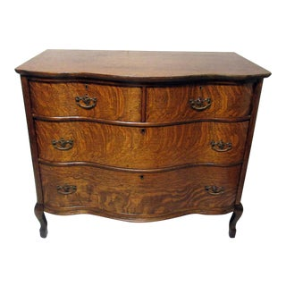 Tiger Oak Serpentine Dresser