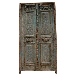 Antique Salvaged Architectural Carved Door