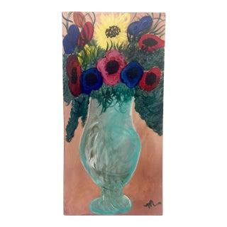 Josephine Mahaffey Mid-Century Floral Oil Painting